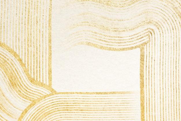 Plano de fundo texturizado dourado luxuoso em arte abstrata bege