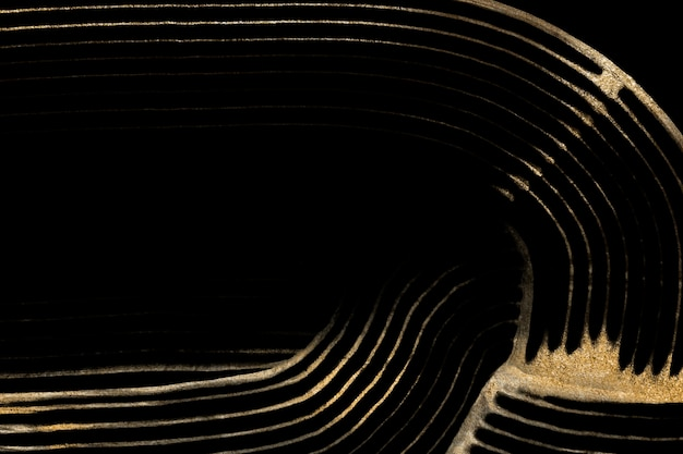 Plano de fundo texturizado dourado luxuoso em arte abstrata preta