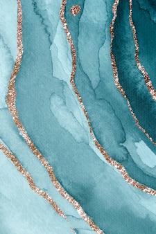Plano de fundo texturizado em aquarela azul-petróleo cintilante