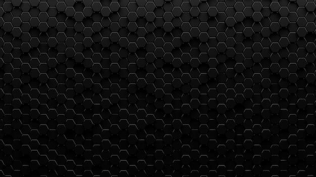 Plano de fundo texturizado metálico escuro hexagonal