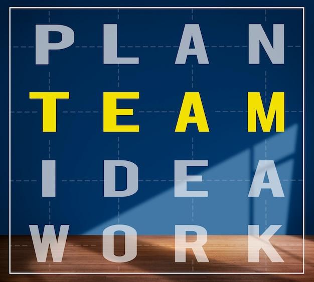 Plano de ideia de trabalho em equipe apoio conceito de ajuda de colaboração