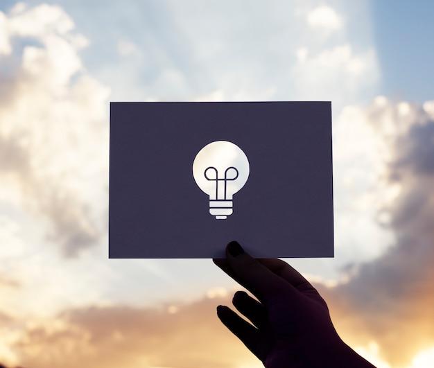Plano de missão de design de ação de idéias