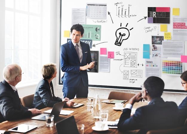Plano de planejamento estratégia bysiness ideas concept
