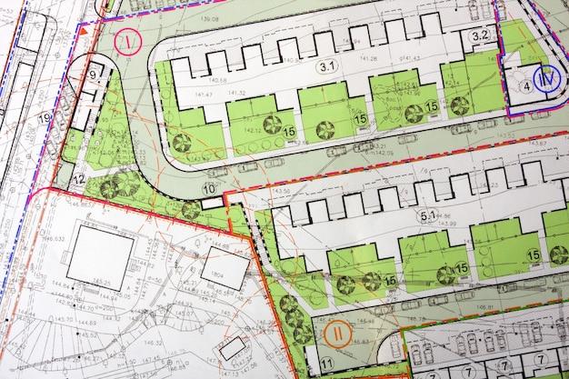 Plano geral arquitetônico
