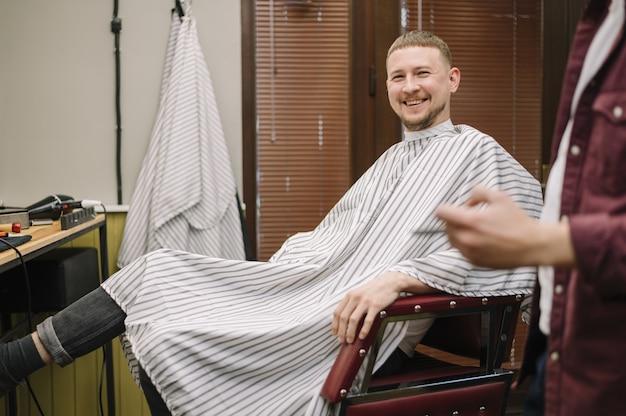 Plano médio do conceito de barbearia