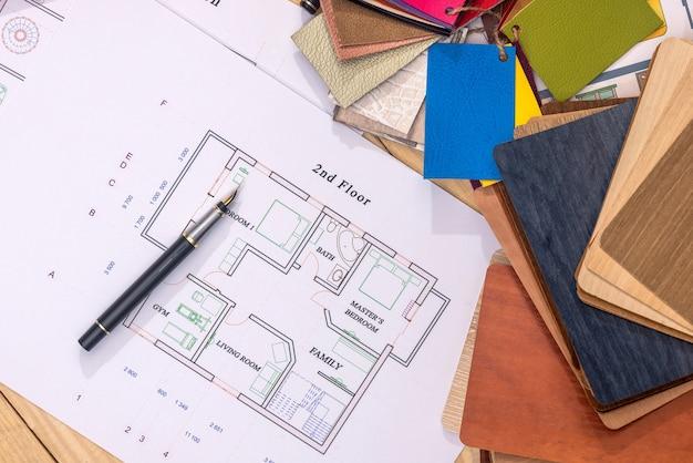 Plano pronto para um prédio em construção