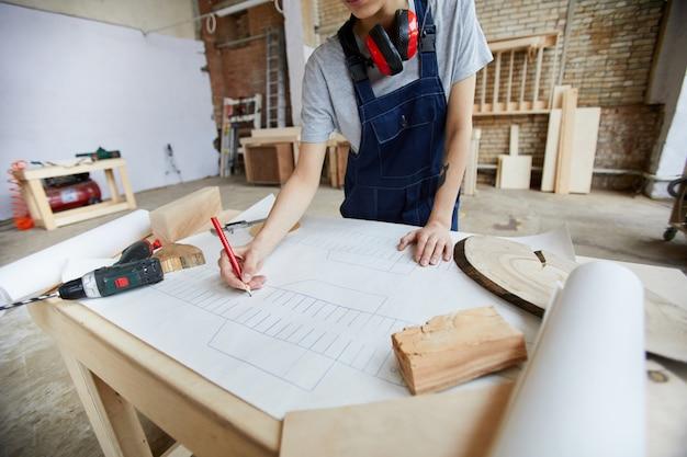 Planos de desenho de carpinteiro