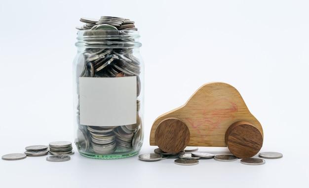 Planos de poupança para carro, conceito financeiro