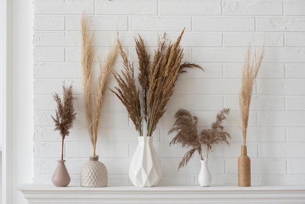 Planta da casa na composição da decoração do vaso