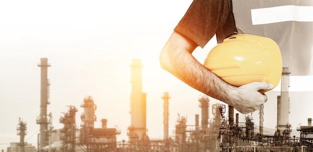 Planta da fábrica do futuro e conceito da indústria de energia.