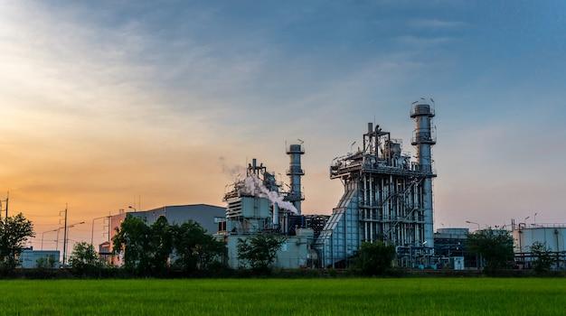 Planta da indústria de refinaria de petróleo e gás