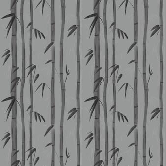 Planta de bambu. padrão uniforme para papel de parede pronto para imprimir