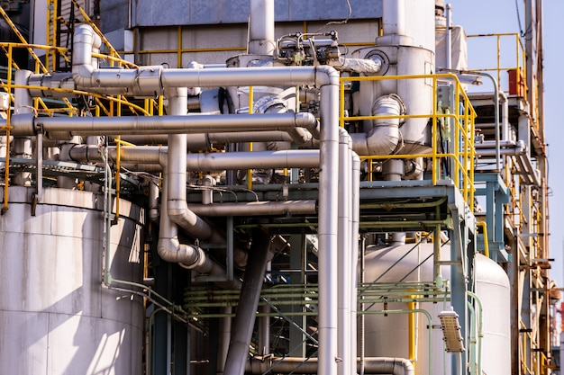 Planta de fábrica de óleo de pipeline química