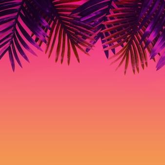 Planta de folhagem de folhas tropicais close-up com fundo de espaço de cópia de cor. ideias de conceitos de natureza e verão. para design de decoração.