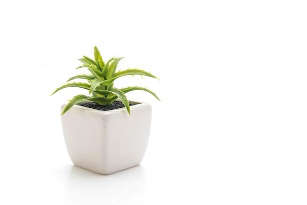 Planta de plástico em vaso