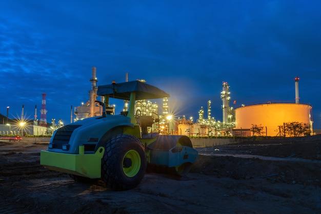 Planta de refinaria de petróleo.
