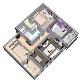 Planta do apartamento ou casa. renderig 3d.