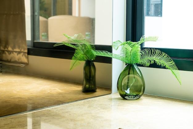 Planta ou árvore em vaso decoração na sala de estar