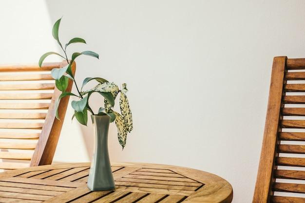 Planta vaso de flores naturais de férias