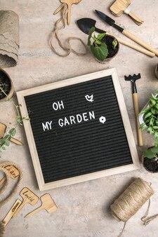 Plantar sementes em vasos de papel biodegradável ecologicamente corretos
