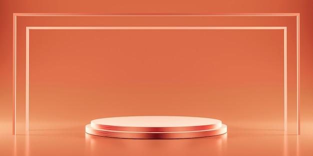 Plataforma de ouro rosa para mostrar o produto