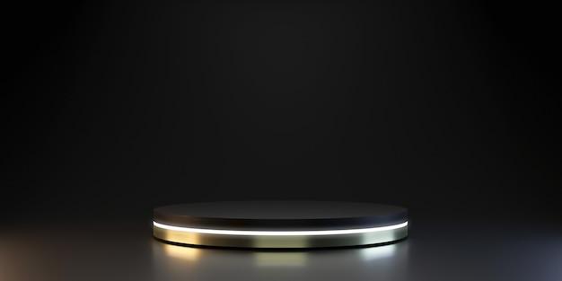 Plataforma de prata moderna para mostrar o produto