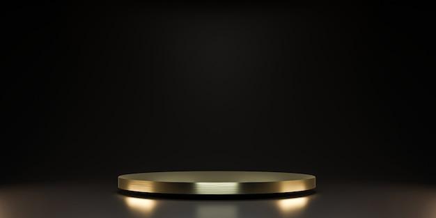 Plataforma dourada para mostrar o produto