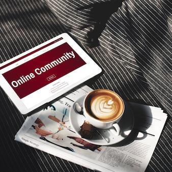 Plataforma social netwotk vida digital