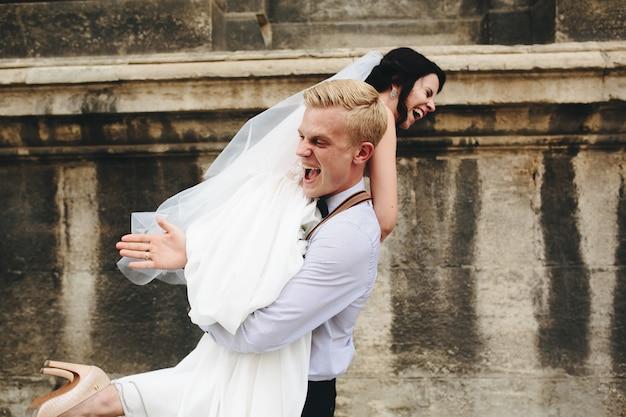 Playing newlyweds