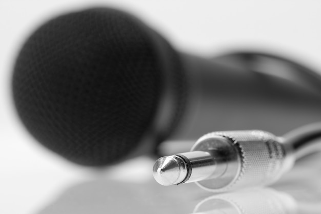 Plugue do cabo do microfone profissional