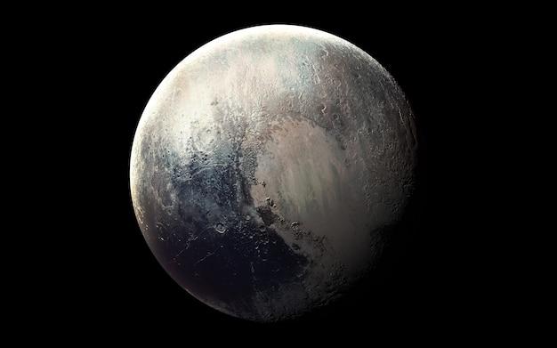 Plutão no espaço, ilustração 3d. .