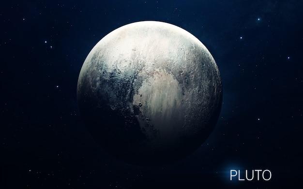 Plutão - planetas do sistema solar em alta qualidade. papel de parede de ciência.