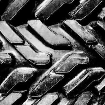 Pneus de lama de caminhão grande, close-up
