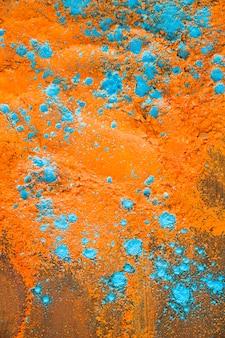 Pó azul laranja na mesa de luz
