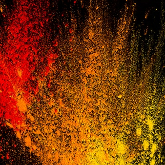 Pó colorido abstrato splatted no fundo
