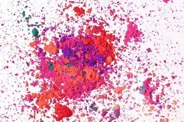 Pó colorido, conceito de festival de holi