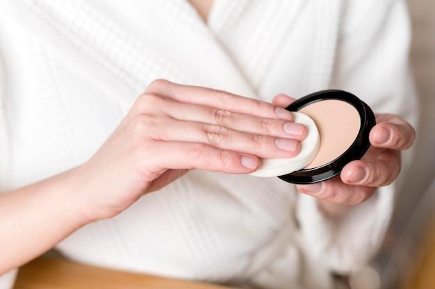 Pó de close-up para maquiagem