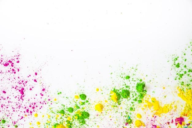 Pó de cor para holi cartão