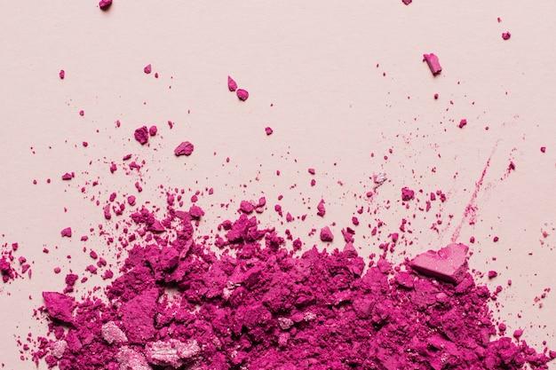 Pó de maquiagem rosa com espaço no topo