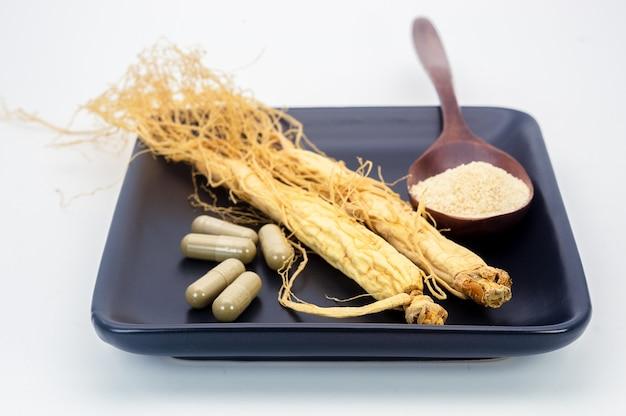 Pó de raiz de ginseng para medicina de cápsulas