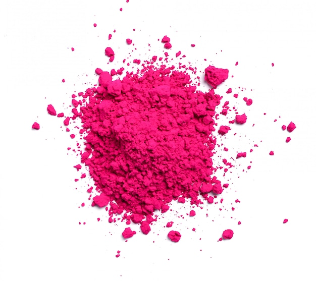 Pó rosa isolado, conceito de festival de holi