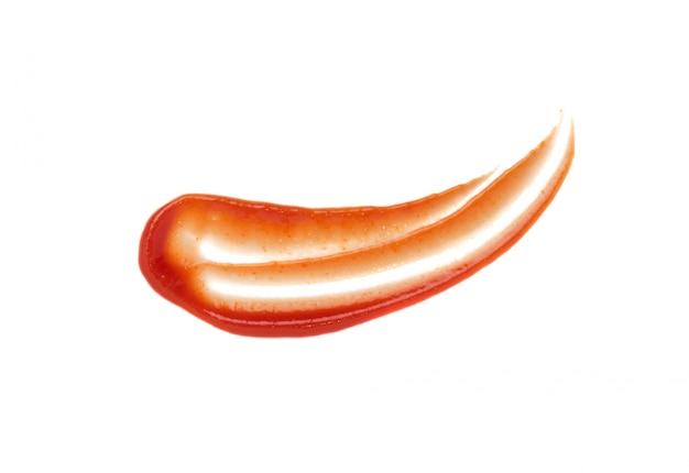 Poça manchada de molho de tomate