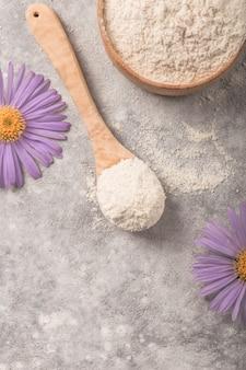 Poderoso colágeno hidrolisado antioxidante. suplementos de colágeno podem melhorar a saúde da pele, reduzindo rugas e ressecamento.