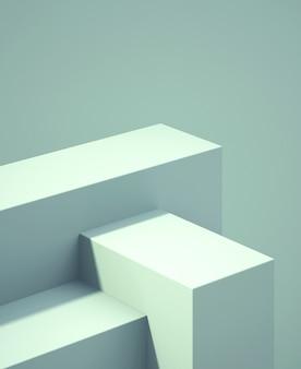Pódio 3d para simulação para apresentação de produtos, fundo abstrato de cor pastel, renderização 3d