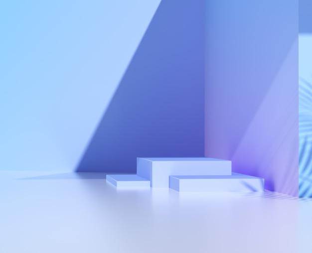 Pódio abstrato para vitrine de produto. renderização 3d.