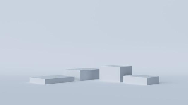 Pódio branco abstrato para fundo de estúdio de vitrine de produtos