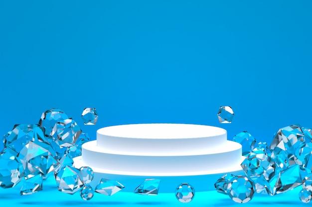 Pódio branco mínimo abstrato para apresentação de produto cosmético ou exibição