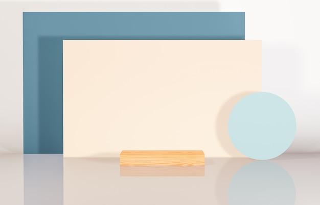 Pódio de beleza natural com forma geométrica para exibição do produto. abstrato base de composição 3d.