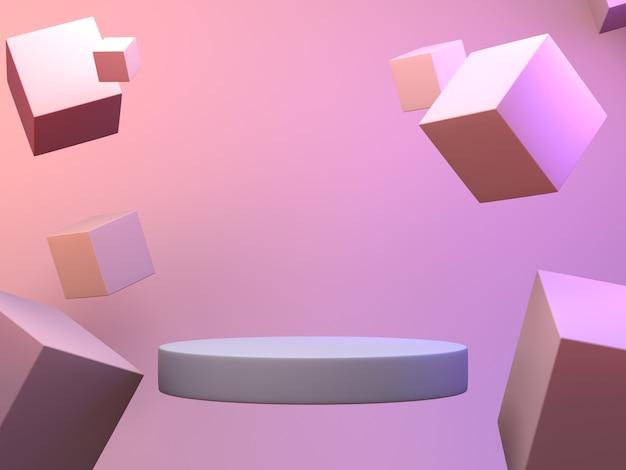Pódio de cena geométrica.
