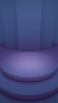 Pódio de demonstração do produto